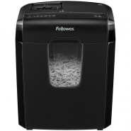 Уничтожитель документов Fellowes FS-46866 6C, 4 ур. секр. 4х35мм, 6 лист, 11л, скрепки, скобы, карты