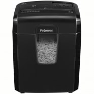 Уничтожитель документов Fellowes FS-46921 8CD, 4 ур.секр. 4х35мм, 8 лист. 15л, скрепки,скобы, CD, карты
